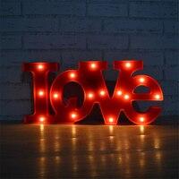 52x23x4 Cm LOVE Modeling String LED Decorative Lamps Night Lighting Gift