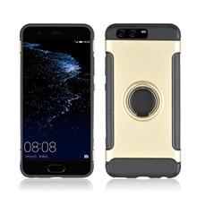360° Rotating TPU+PC Ultra Thin Carbon Fiber Ring Bracket Mobile Phone Case For Huawei P10 Anti Skid