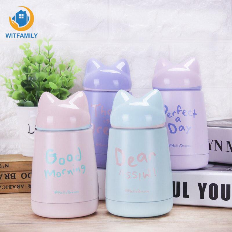 Hot Sales Lovely Portable Stainless Steel Thermal Baby Child Feeding Bottles Cartoon Vacuum Coffee Sports Drinking Water Bottle