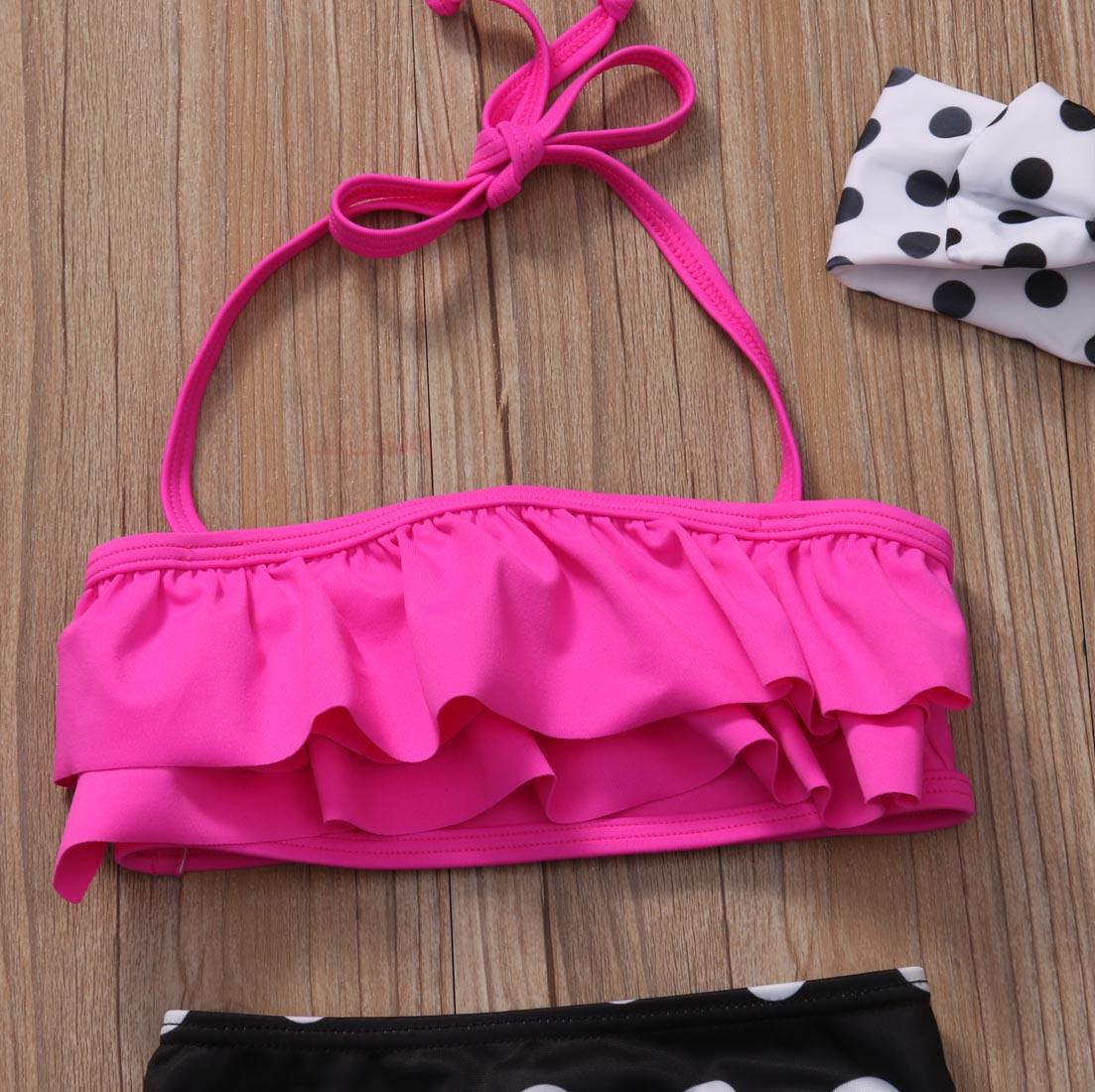 Niñas de dos piezas de lunares traje de baño niños bebé niña - Ropa deportiva y accesorios - foto 4