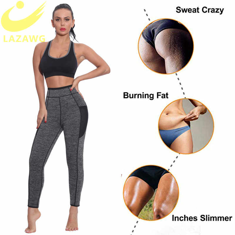 Mulheres Trainer Cintura LAZAWG Hot Sauna Suor Calça Neoprene Suor Emagrecimento Calças Calcinhas Controle Da Barriga Corpo Shaper Gym Workout