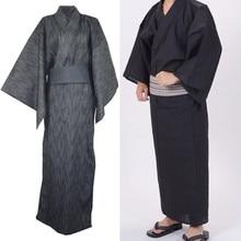 Traditional Japanese Male Kimono Men's Robe Yukata 100% Cott