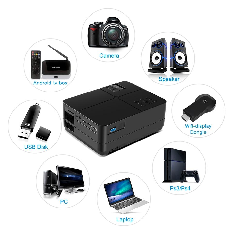 BYINTEK SKY K7 1280x720 LED Mini Micro Di động Video HD Máy chiếu với HDMI USB cho Game Movie 1080P Rạp hát tại nhà (11)