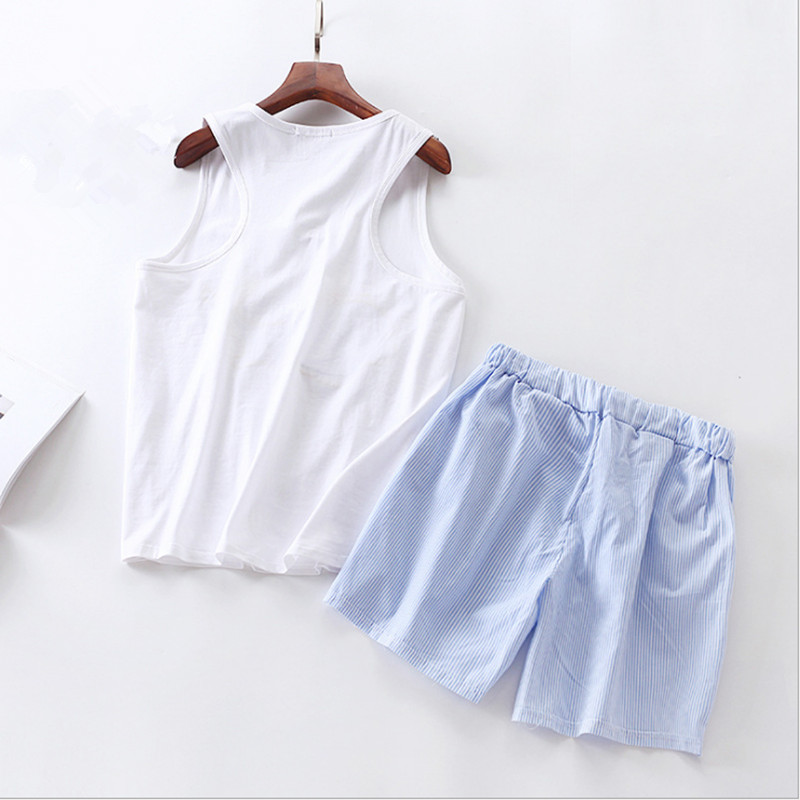 Cute cotton pajamas sets with white and pink blue and white color sweet Dophin fishappliqued women pajama sets hot selling