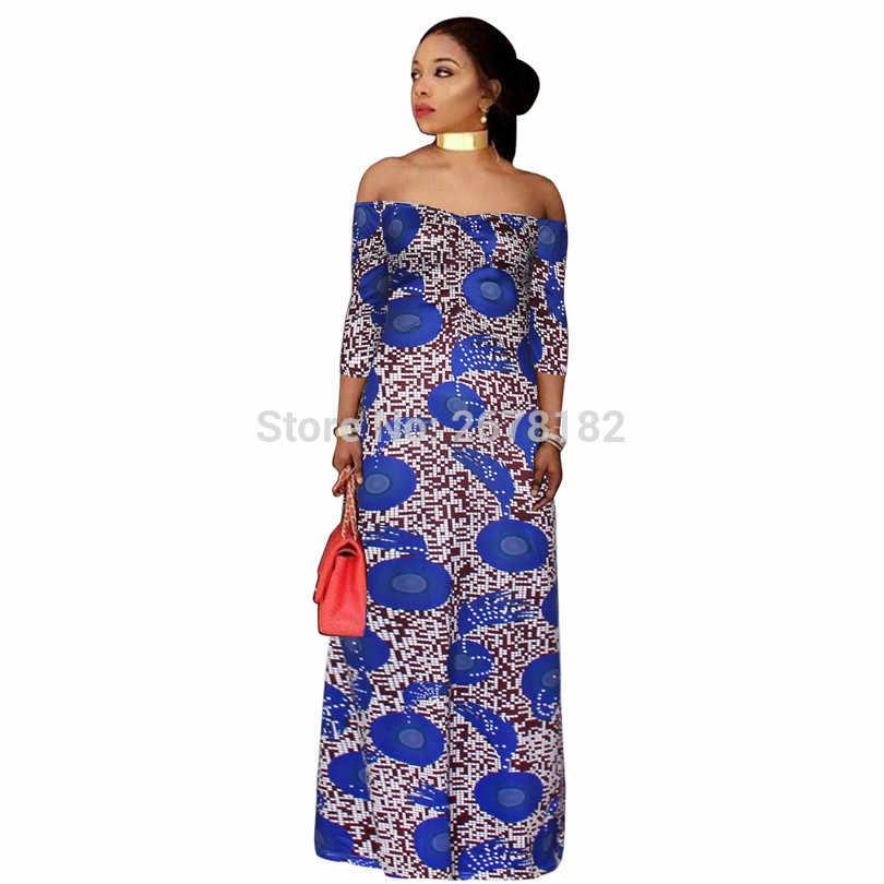 Традиционная африканская одежда 2018 новая хлопковая Женская Горячая Зимняя мода простая без бретелек воротник обернутый грудь сексуальная юбка платье