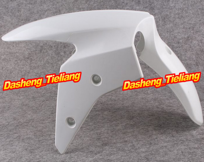 Motorcycle Front Fender Fairing for Kawasaki Ninja 2008 ZX-R 250 ZXR250 ABS Injection Cover Parts Unpainted White Plastic unpainted abs plastic front fender fit for yamaha 2008 2012 yzf r6 injection mould motorcycle fairing frame cover part