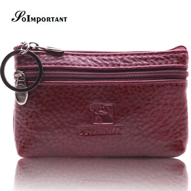 Women Wallets Purses Mini Wallet Female Genuine Leather Small Coin Purse Zipper Design Coin Credit Card Holder With Metal Ring genuine leather coin purses women small change money bags pocket wallets female key chain holder case mini pouch card men wallet