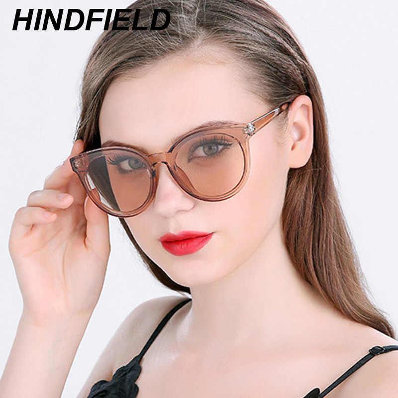 111cab2bdf7 Oversized Cat Eye Sun Glasses Women Brand Design Transparent Big Sunglasses  Korean Superstar Eyewear Luxury Clear