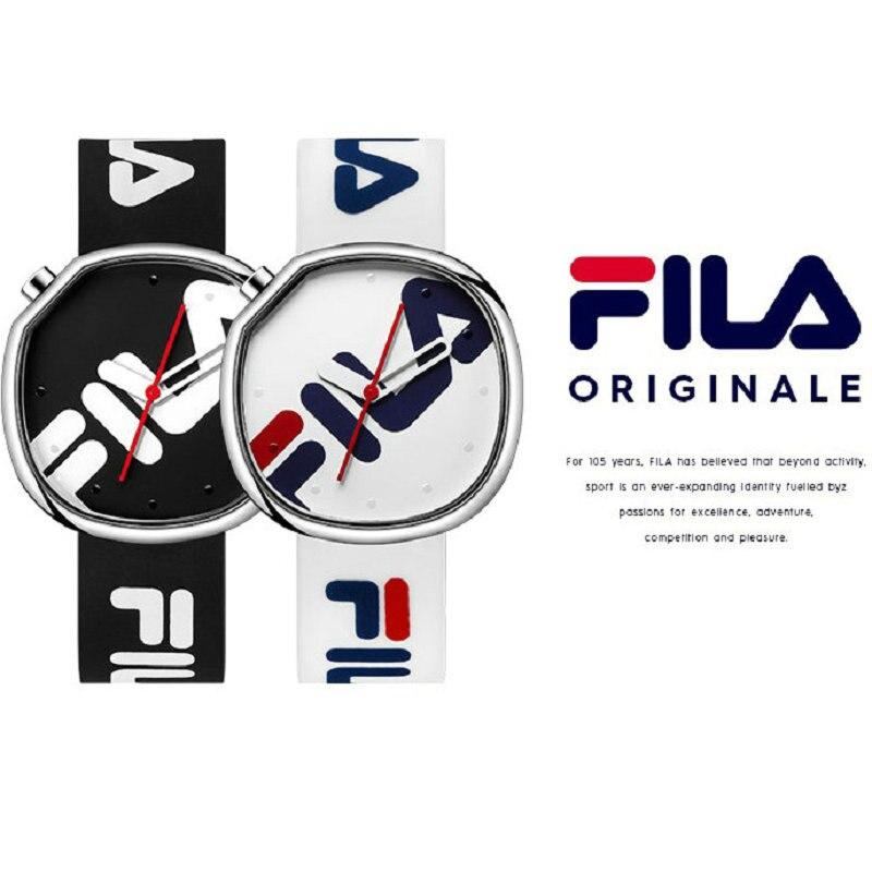2Pce/Lot Fila Спорт Кварцевые часы Топ бренд высокое качество Повседневное простой Стиль силиконовый ремешок Для женщин Для мужчин любителей 2019