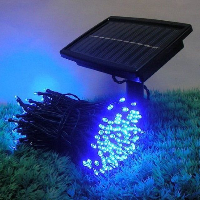 Solar Panel With Lamp String Multicolour Led Christmas Decoration Weatherproof Outdoor Lights Garden