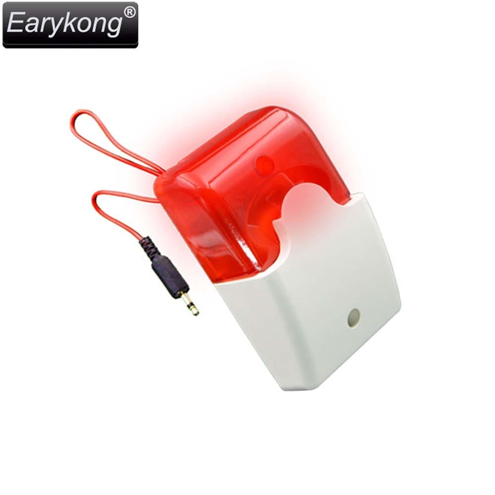 цены Free Shipping Wired Alarm Siren Strobe Alarm, Very Popular, For GSM / G90B wifi / Home Burglar Alarm System, Earykong Brand