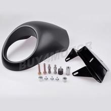 High Quality ABS Plastic Matte Black Headlight Fairing Mask for Harley Sportster Front Cowl XL 1200 /883 Low Visor #3271