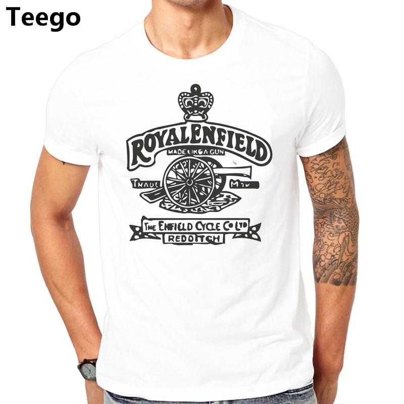 Royal Enfield Retro Motorcycles shirt black white tshirt men/'s free shipping