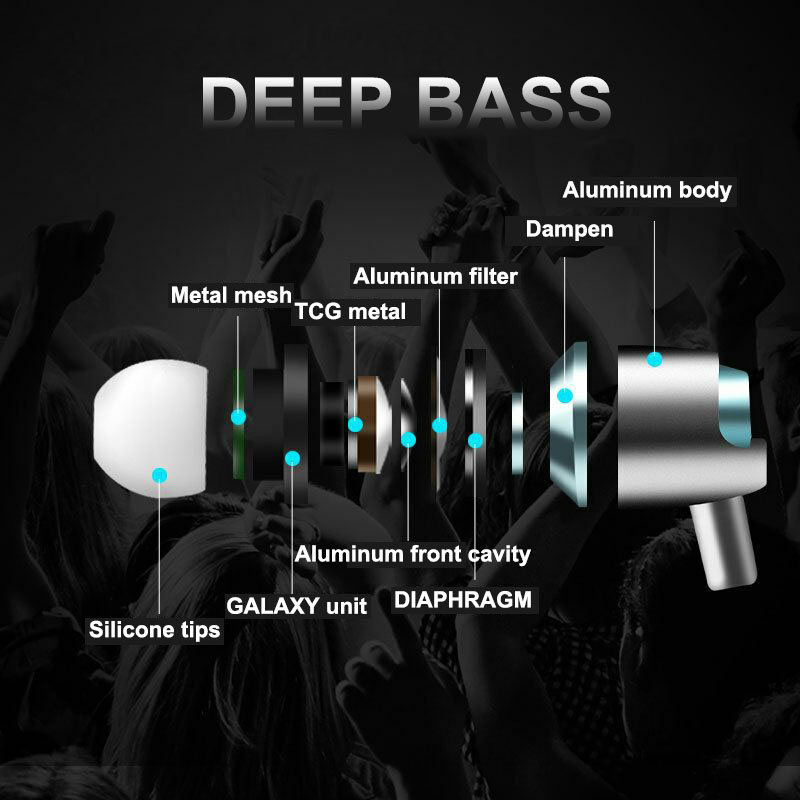 Professional HIFI Deep Bass Earphone with Mic Noise-isolating Headphones Headset Earbuds for Kyocera Digno G W miraie f KYV39