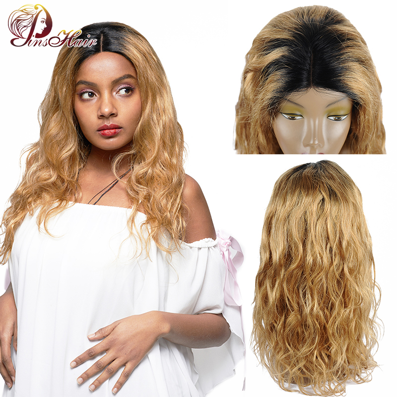 Pinshair Blonde Lace Front Wigs For Black Women T1B/27 Body Wave Closure Wig Ombre Brazilian Nonremy Lace Front Human Hair Wigs