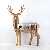 New Design European 100 Birch Wood Elk Edge Table Deer Shape Furniture Animal Rack Ornaments Home