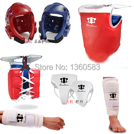 Hot Sale Adult kids Thickening Taekwondo Protector 5 Piece HeadGear Helmet Full protective Taekwondo Guard Bag chest protector taekwondo protective gear set wtf hand chest protector foot shin arm groin guard helmet 8pcs children adult taekwondo karate set