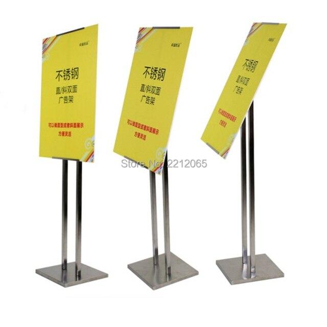 Verstelbare Rvs staande Poster Display Frames voor Winkel ...