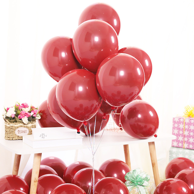 Image 5 - GIHOO 10PCS 20PCS 50PCS 5inch 12inch Ruby Red Glossy Metal Pearl Latex Balloons Chrome Metallic Color Wedding Party Decor-in Ballons & Accessories from Home & Garden