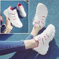 Ins Sport Shoes Harajuku Thick White Shoe Female Students Running Shoes For Women Fitness Travel Shoe Jogging Breathable Sneaker