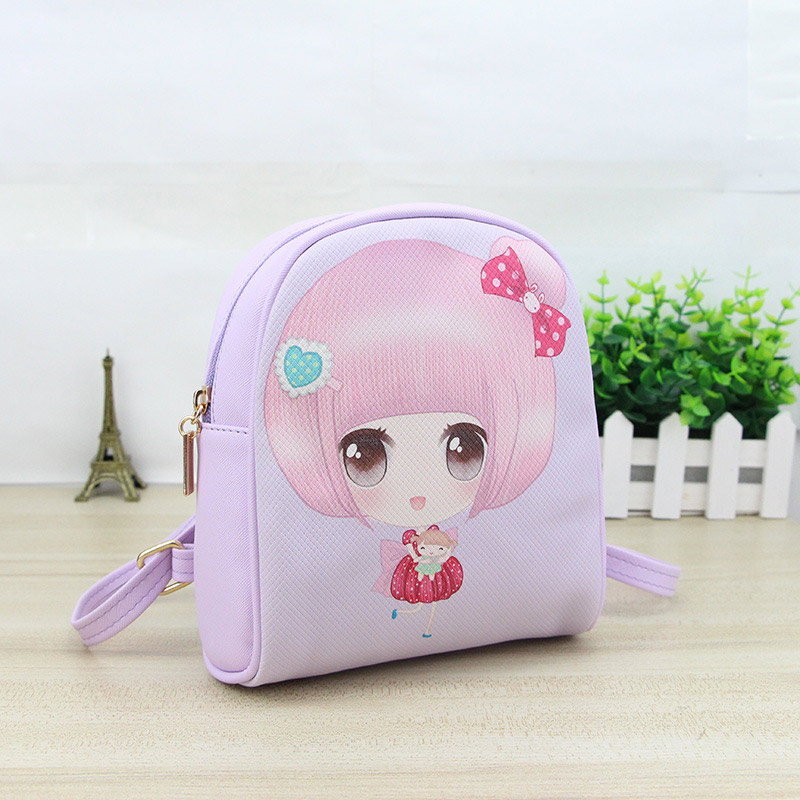 High Quality Kids Girls Cartoon Printed Backpack PU Leather Children Mini Schoolbag Backpacks Gift For Kid Children Popular