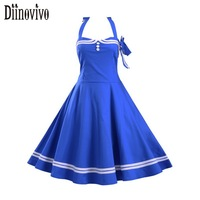 Summer Audrey Hepburn Style 50s 60s Robe Vintage Big Swing Dress Women Casual Ball Retro