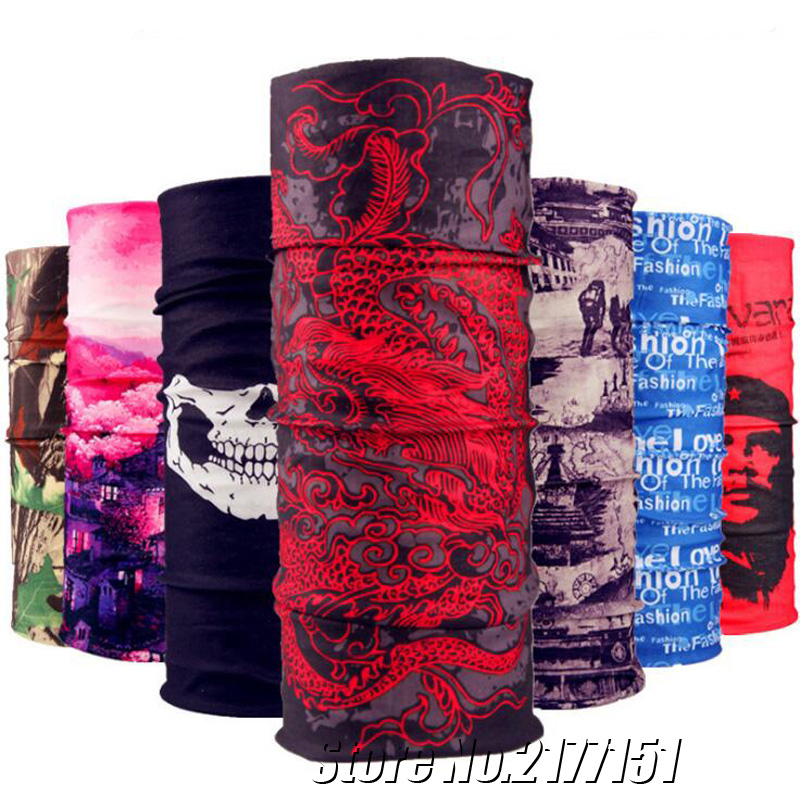 Multifunctional Bandana Camouflage Skull Scarf Motorcycle Bycle Seamless Tubular Outdoor Sports Headband Magic Ring Scarf