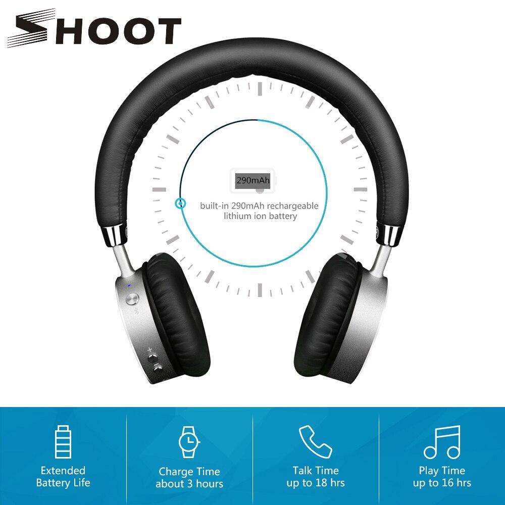SCHIEßEN 4,0 Drahtlose Bluetooth Kopfhörer für iPhone Xiaomi Android Telefon mit Mikrofon Bluedi Auf Ohr Noise-isolation Headset