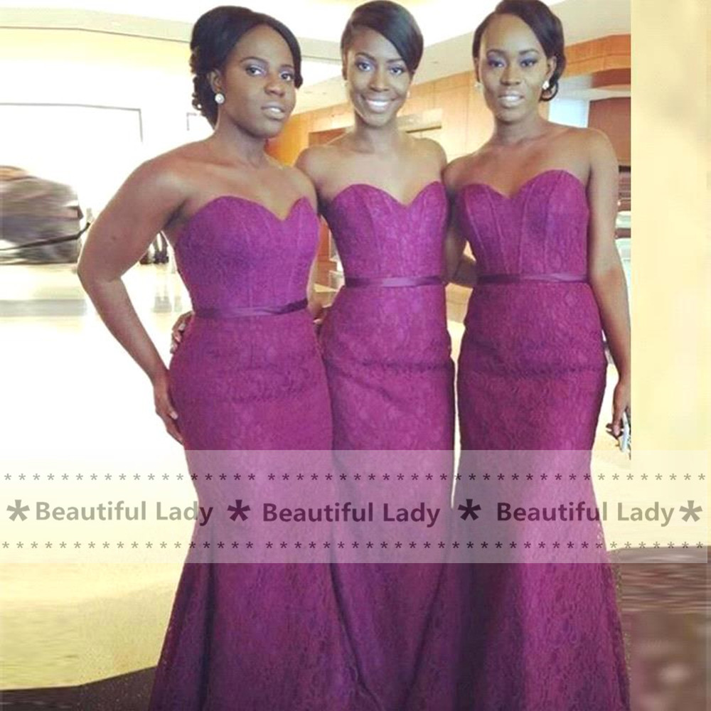 Elegant purple lace bridesmaid dresses 2017 sweetheart off the elegant purple lace bridesmaid dresses 2017 sweetheart off the shoulder mermaid bridemaid gowns fast shipping long dress cheap in bridesmaid dresses from ombrellifo Image collections