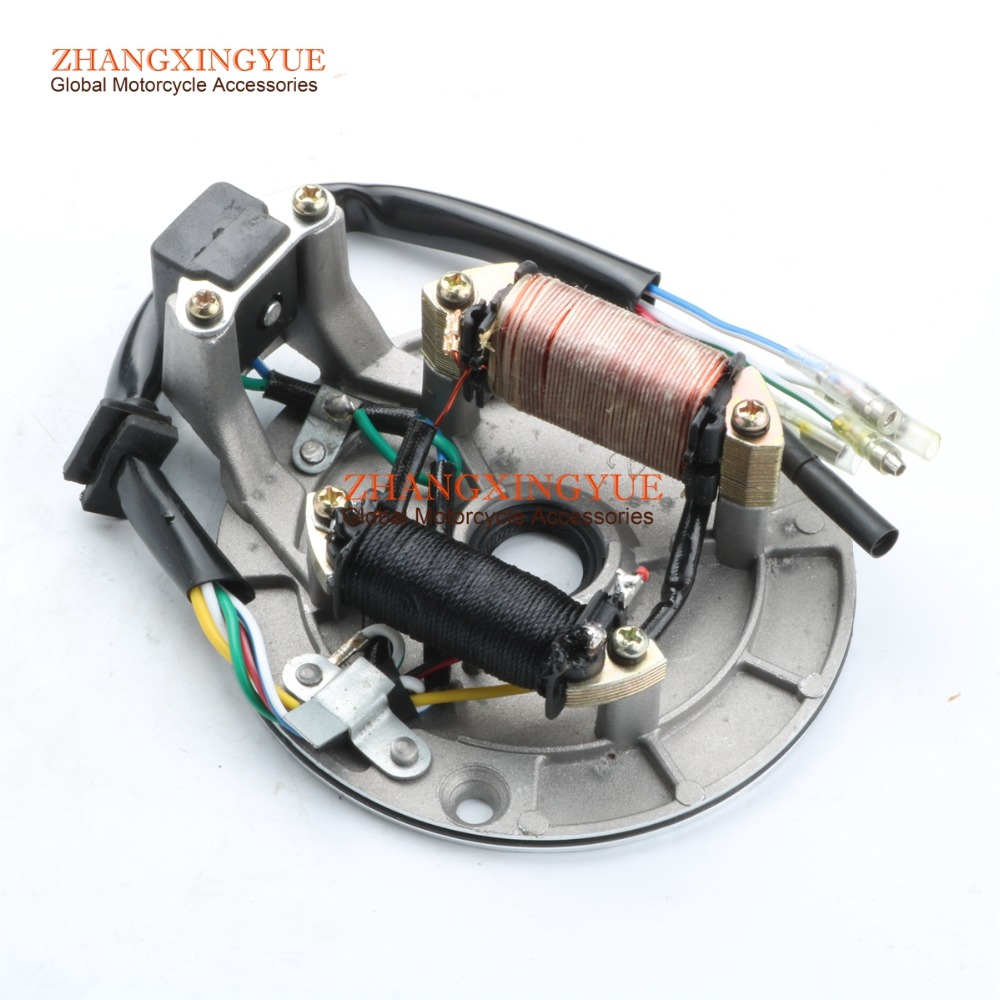 Magneto Stator Plate for 70cc 90cc 110cc 125cc Dirt Bike ATV Go Kart Chinese 2 coil