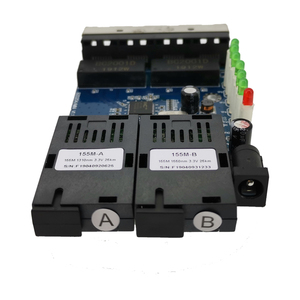 100M Fast Erhetnet 2F4E 10/100M Ethernet Switch 2 Fiber Port SC 25KM 4 UTP RJ45 Fiber Optical Switch PCBA Board(China)