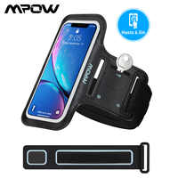 Mpow Sports Armband Universal For 6.5inch Smartphones Adjustable Arm Band TouchScreen Fit Arm Size 9-15inch For iPhone Xiaomi