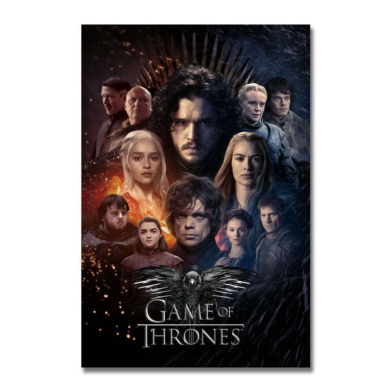 Game of thrones 2 Movie Silk Canvas Poster Wall Home Decor Film Print 24x36 inch