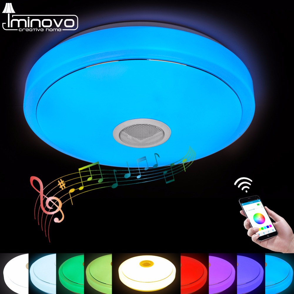 LED Ceiling Light Bluetooth and Music with colourful and dimmer RGB Ceiling Light Remote Control for living room and bedroom bluetooth intelligent led light e27 multicolor dimmer bulb lamp for ios for android system remote control anti interference