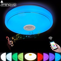 LED Ceiling Light Bluetooth And Music With Colourful And Dimmer RGB Ceiling Light Remote Control For