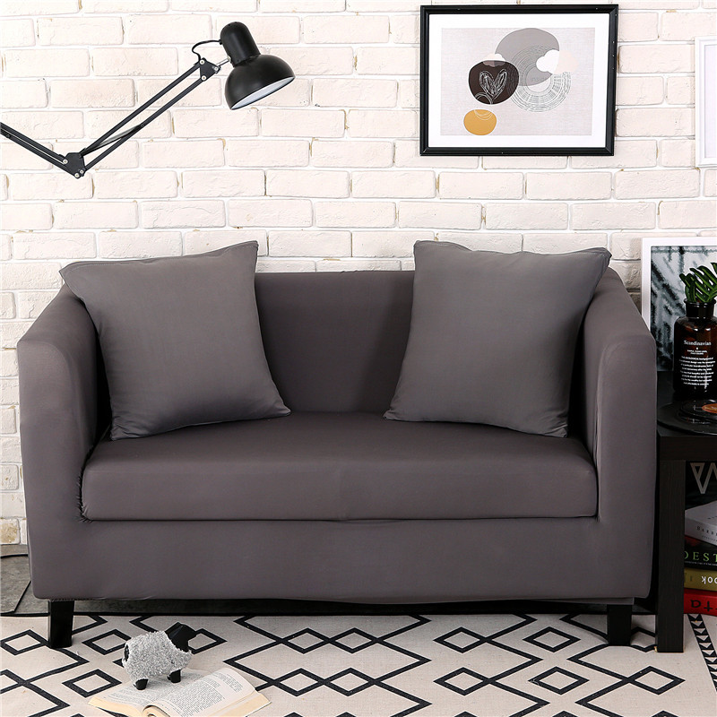 Incredible 1 2 3 Seater Modern Solid Sofa Cover Polyester Spandex Elastic Slipcover Armchair Couch Cover Living Room Furniture Protector Settee Covers Parson Gmtry Best Dining Table And Chair Ideas Images Gmtryco