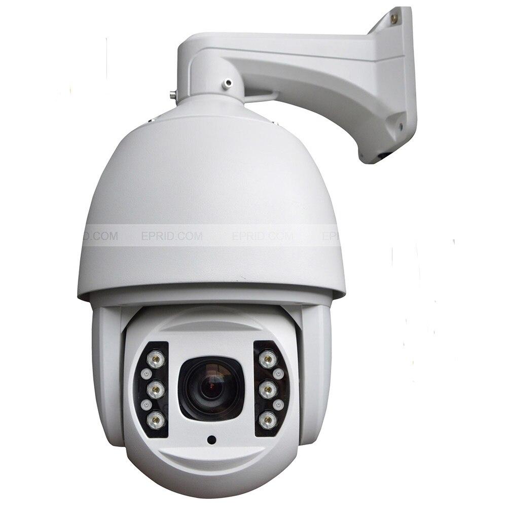 6 pouces 3 mégapixels 1080 P HD haute vitesse IP PTZ dôme caméra 18x mise au point optique