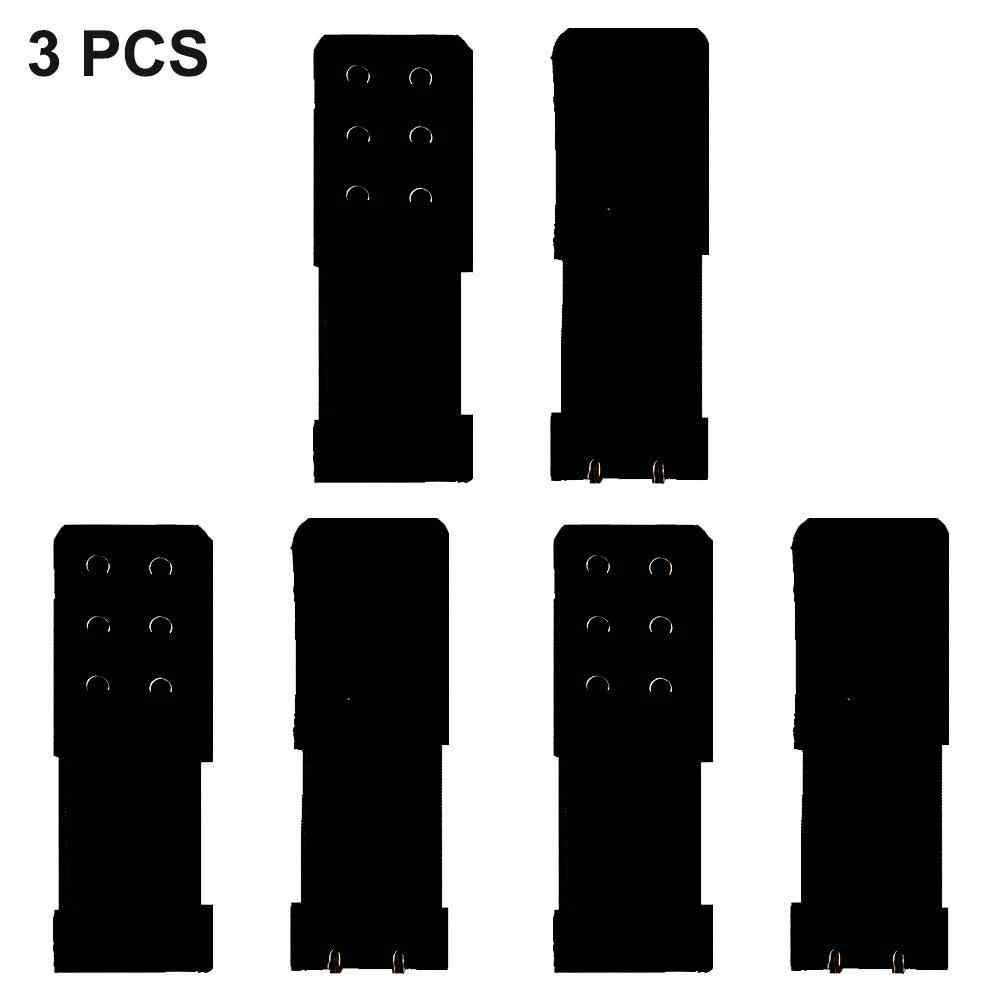 3 PCS ยืดหยุ่นสามแถวสองหัวเข็มขัด Bra Extension หัวเข็มขัดสแตนเลสหญิงตั้งครรภ์ชุดชั้นใน Bra ยาว Buckle