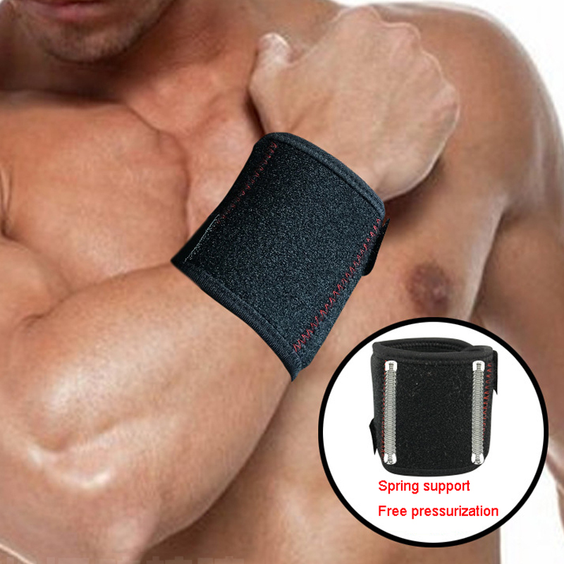 1 PAIR Wrist Support Laycra Material Men Women Professional Sports Safety Support Wrist Brace HW002