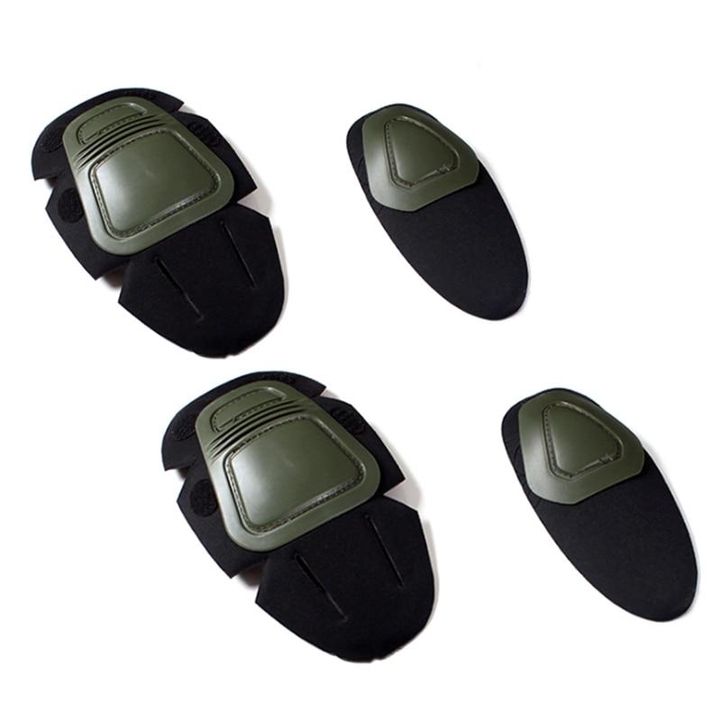 Knieschoner Taktische Knie Und Ellenbogen Protector Pad Für Paintball Airsoft Kampf Einheitliche Militärische Anzug 2 Knie Pads & 2 Ellenbogen Pads /set äSthetisches Aussehen