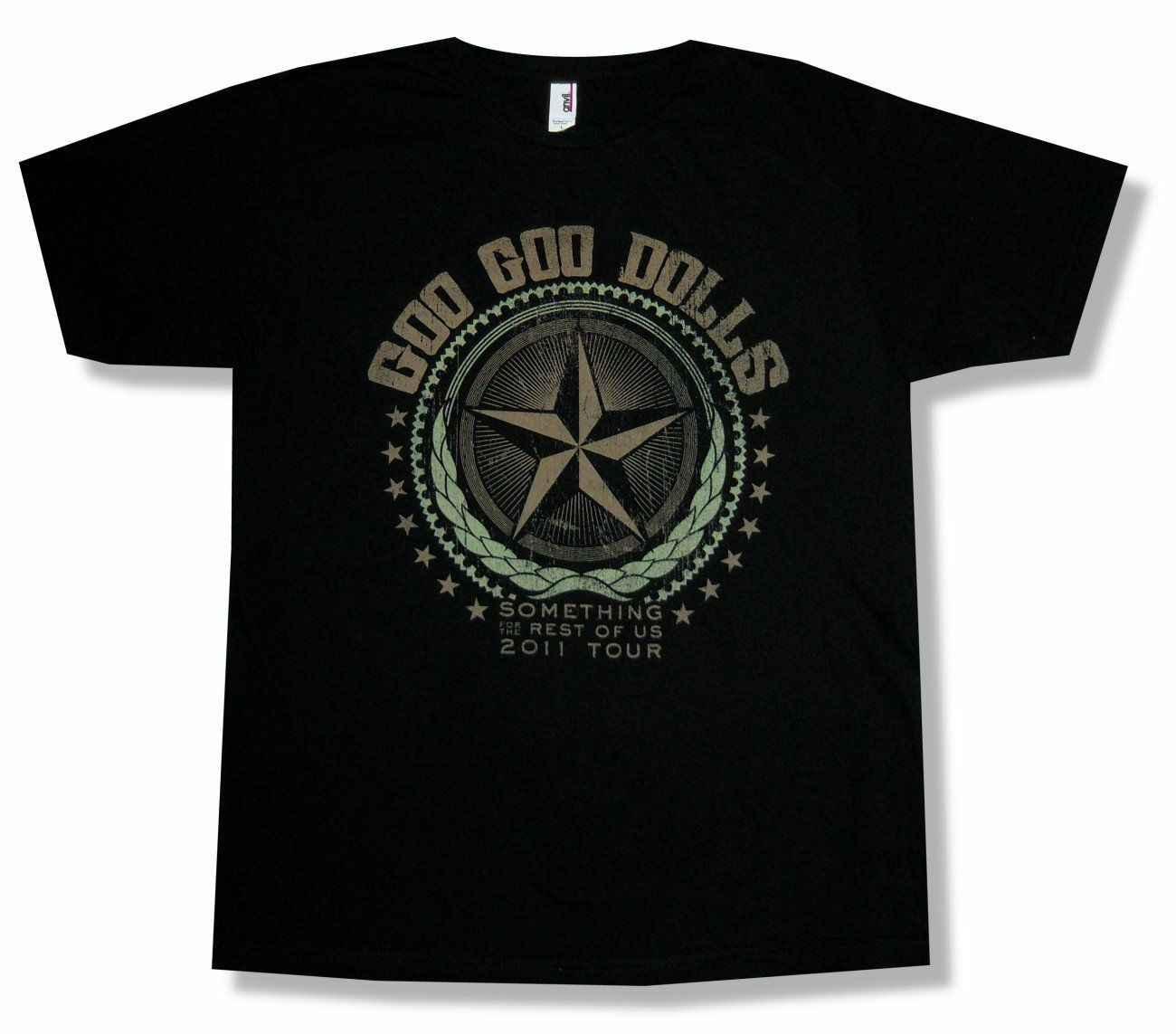 Goo Goo Dolls Estrela do Resto de NÓS 2011 Turnê Preto T Camisa Nova Merch Oficial Da Banda