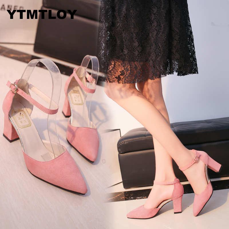 25 Styles Summer Women Sandals Open Toe Women's Sandles Thick Heel Pumps Shoes Korean Style Gladiator High Peep  Zapatos 2019