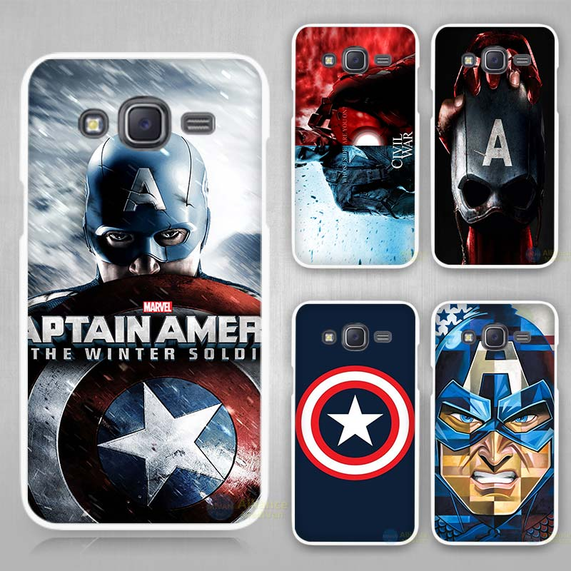Captain America the winter soldier Hard White Case Cover for Samsung Galaxy J1 J2 J3 J5 J7 C5 C7 C9 E5 E7 2016