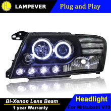 Lampever Styling For Pajero V73 Headlights Led Headlight Drl Lens Double Beam H7 Hid Xenon Car
