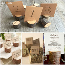 10pcs Wooden Name Place Cards Holders Table Number Holder Rack Wedding Party Direction Signs Supplies Event Party Decoration DIY 10pcs rustic table numbers wooden name place cards holders rack wedding party direction signs shabby chic number home decoration