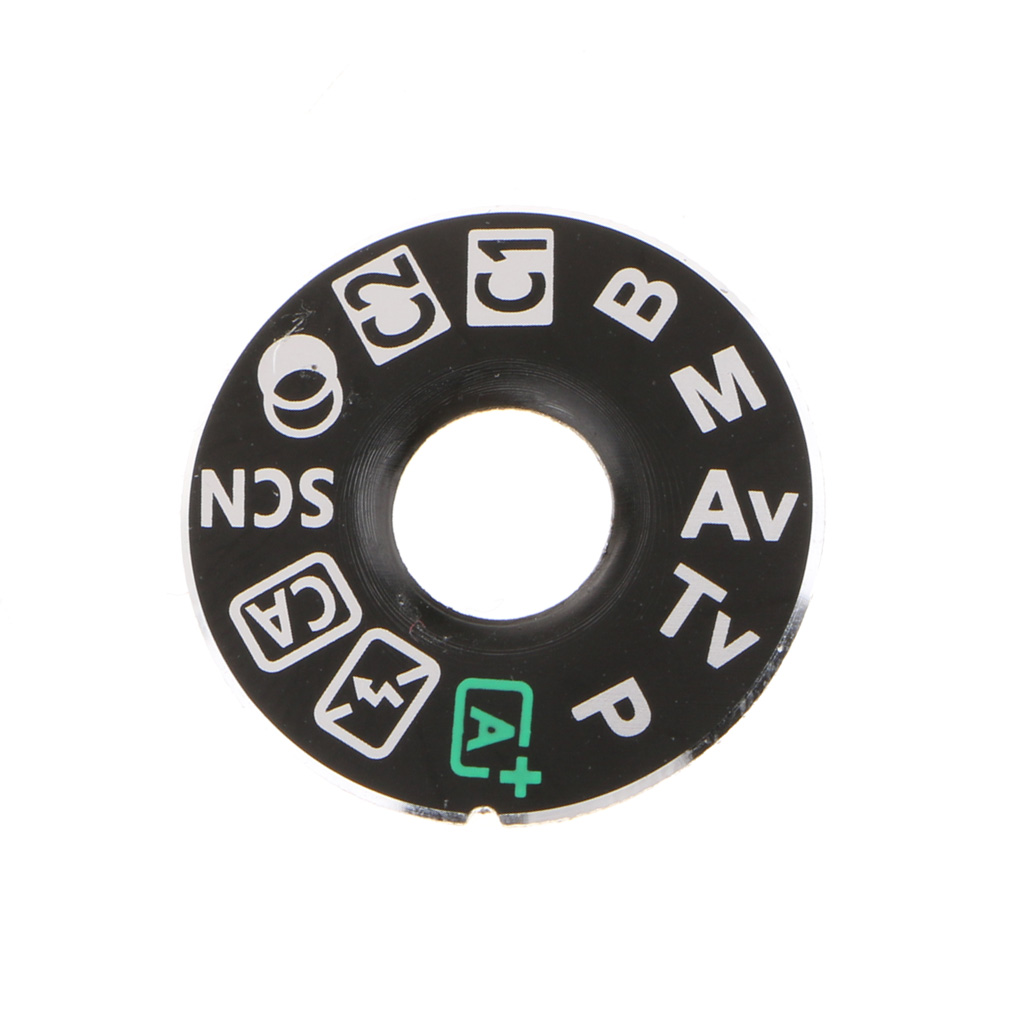 Mode Dial Top Cover Function Plate Interface Cap with Base Replacement for Nikon D7100 D7200 Camera