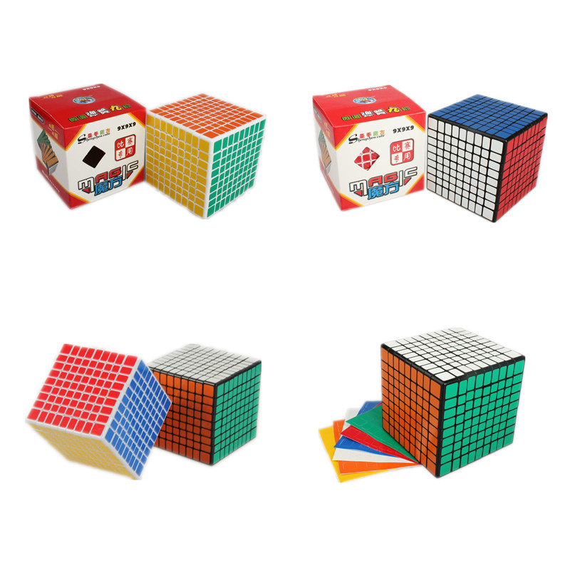 Shengshou 9x9x9 Magic Puzzle Cube 9*9*9 Square Speed Twist Neo Cube 92mm Cubo Magico Children Gift Educational & Learning Toys dayan bagua magic cube 6 axis 8 rank cube puzzle cubo magico educational toy speed puzzle cubes toys for kid child free shipping
