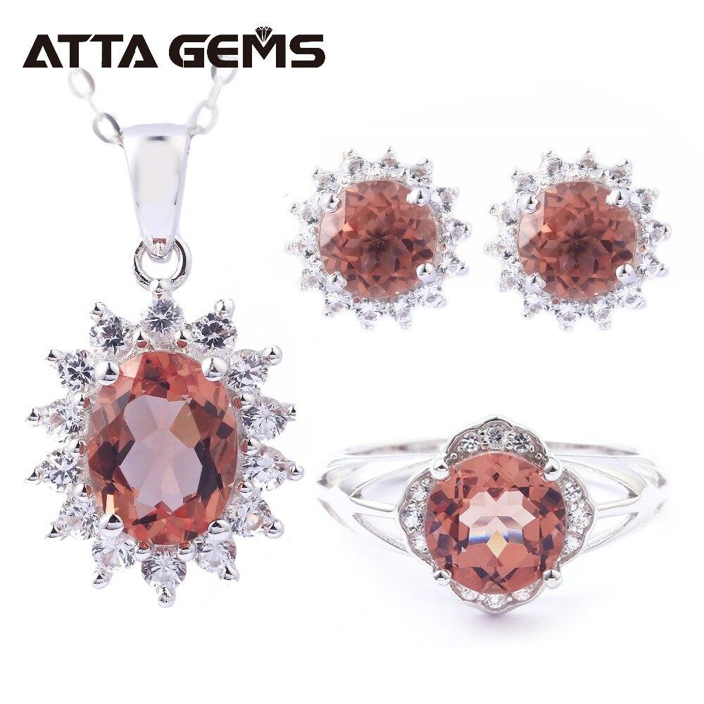 Zultanite Silver Jewelry Set for Women Fine Jewelry 7 2 Carats Created Zultanite Diaspore Silver Rings