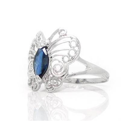 2017 Anillos Qi Xuan_Dark Blue pierre papillon Rings_Fashion Rings_S925 argent massif mode rings_fabricant directement ventes - 3