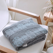 Japan Style Cotton Blankets For Beds Summer Quilt Red Blue Home Decor Throw Machine Washable Towel Blanket On The Bed